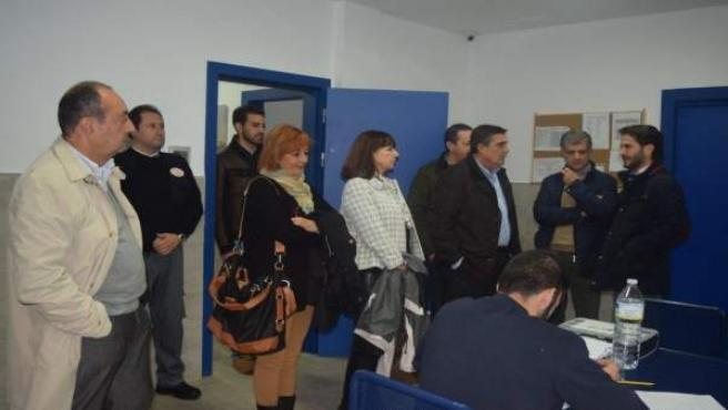 Visita del delegado de Educación de la Junta al CIMI de Huelva