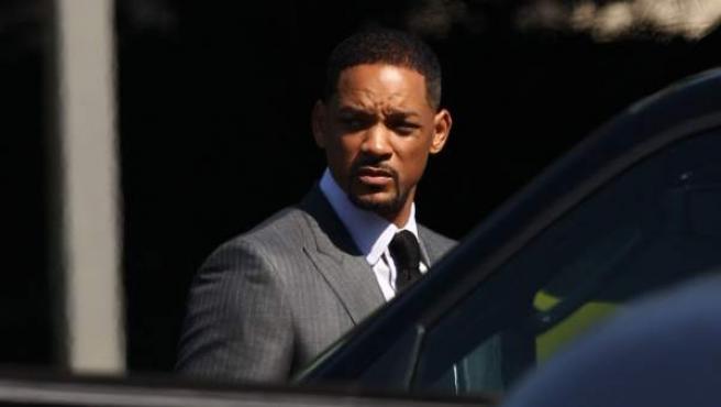 El actor Will Smith, durante el funeral de Mohamed Ali.