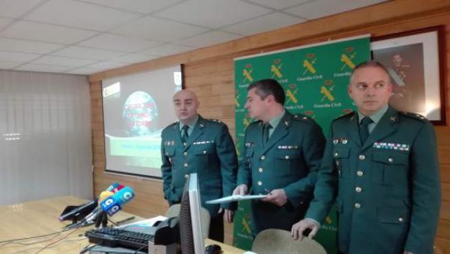 Guardia Civil de Oviedo presentan 'Operación Pryamo'