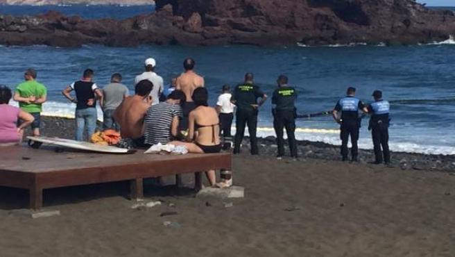 Ahogado en una playa de Gran Canaria