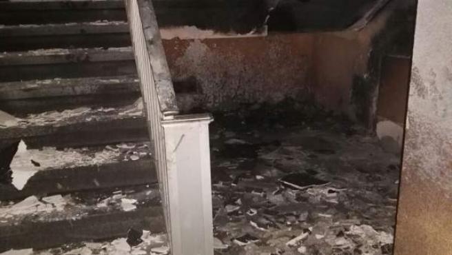Estado del edificio tras el incendio