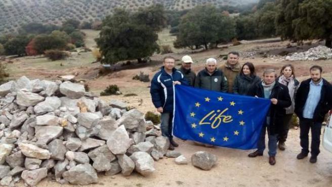 Trabajos del proyecto Life+BioDehesa en Cambil (Jaén)