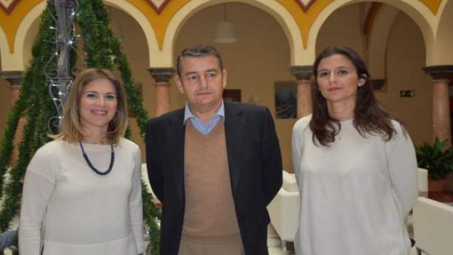 El presidente del PP en Cádiz, Antonio Sanz, en una convivencia en Sanlúcar