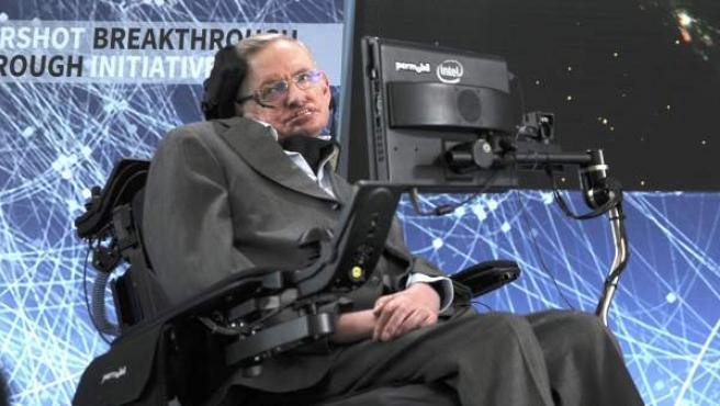 Imagen de astrofísico Stephen Hawking en un evento en Nueva York en 2016.