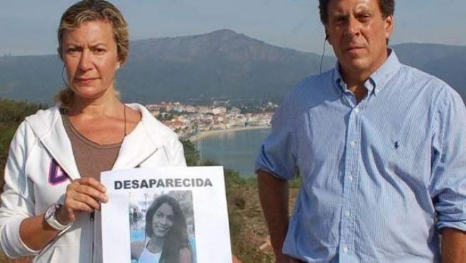 Diana López-Pinel y Juan Carlos Quer, padres de Diana, la joven desaparecida en A Pobra do Caramiñal.