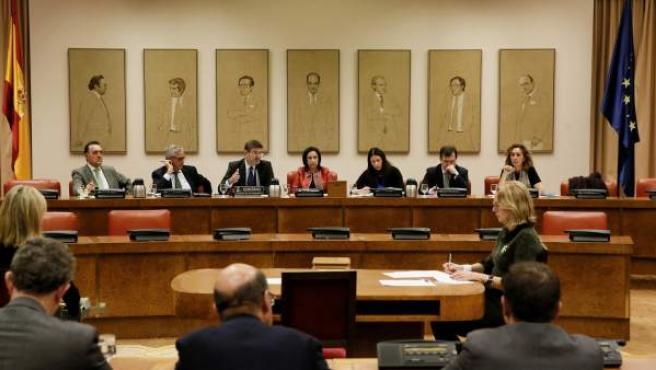El ministro de Justicia, Rafael Catalá, comparece ante la Comisión de Justicia del Congreso.