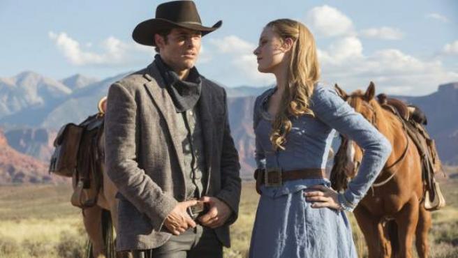 Una imagen de 'Westworld', con James Marsden y Evan Rachel Wood.