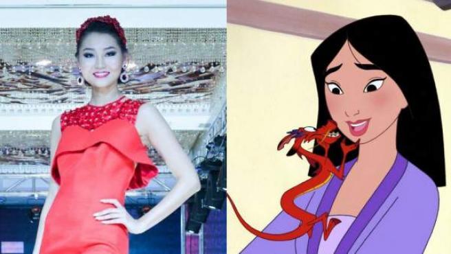 Bayartsetseg Altangerel, Miss Mongolia 2014 y participante de la próxima edición de Miss Mundo podría interpretar a Mulán.