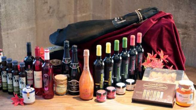 Imagen de archivo de una cesta Navidad.