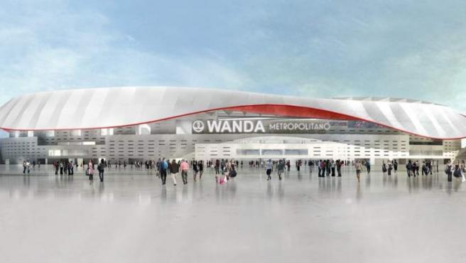 El nuevo estadio del Atlético de Madrid se llamará Wanda Metropolitano. Wanda es el nombre del grupo empresarial chino que patrocina la operación del estadio, mientras que Metropolitano es un homenaje al anterior campo del club.