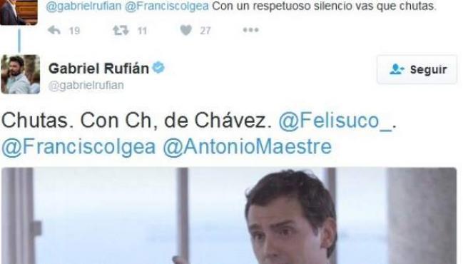 Pelea tuitera entre Rufián y Felisuco.