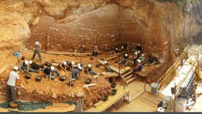 Atapuerca, Excavación en Gran Dolina.