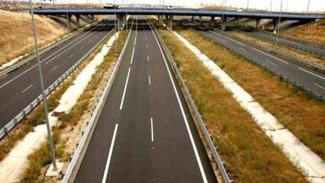 Imagen de un tramo de la autopista radial R-3 de Madrid.