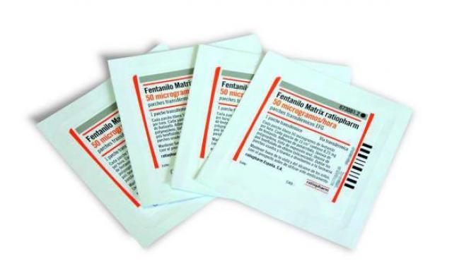 Parches de fentanilo para administración transdérmica.