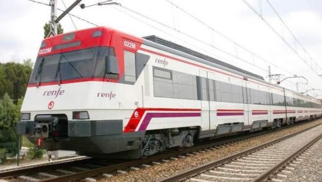 Imagen de un tren de Renfe cercanías.
