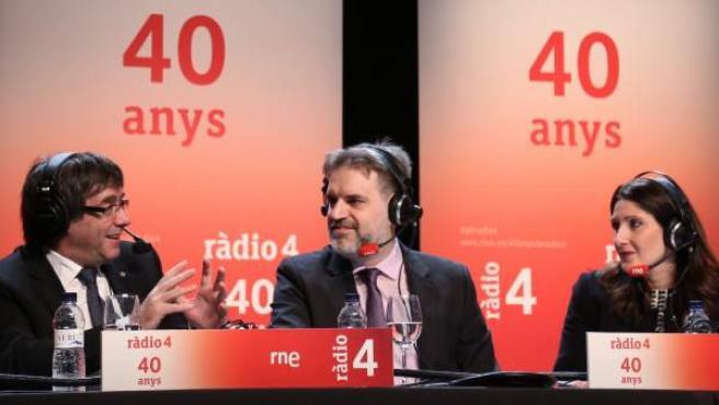 Carles Puigdemont, entrevistado en la radio.