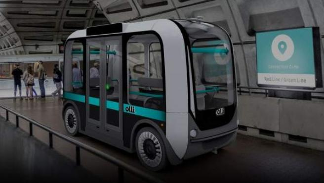 El vehículo puede transportar a doce personas al mismo tiempo.
