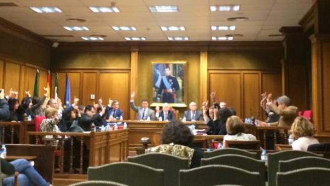 El pleno aprueba por unanimidad la solicitud de Fondos Feder.
