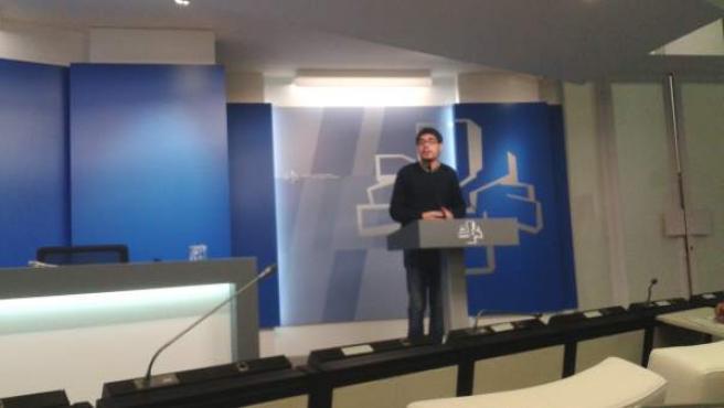 El secretario de Organización de Podemos Euskadi, Lander Martínez