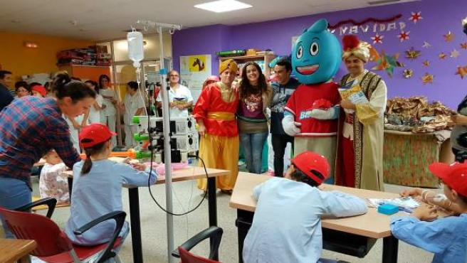 La banda visita el hospital de Huelva