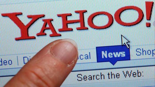 Detalle de la versión en inglés de la página web de Yahoo! en 2013.