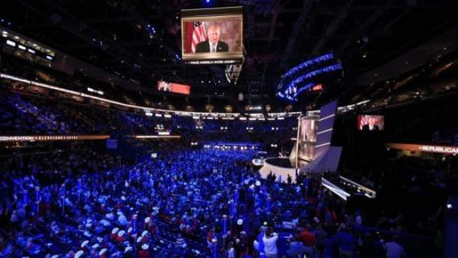 Convención Nacional Republicana 2016 en el Quicken Loans Arena de Cleveland, en Ohio.