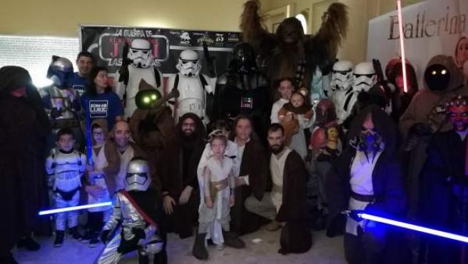 Photocall montado en la Sala Augusta de Palma para el estreno de 'Rogue One' y la emisión del corto sobre Luke, un niño de años con cáncer fan de la saga de 'Star Wars'.
