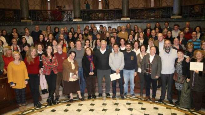 Joan Ribó a la clausura del programa 'Voluntariat pel valencià'.