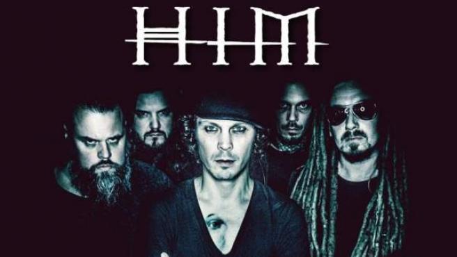 La banda HIM, en su cartel promocional.