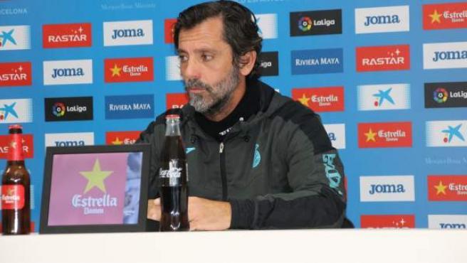 Quique Sánchez Flores, entrenador del Espanyol, en rueda de prensa