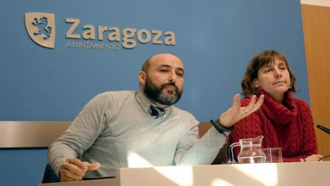 Javier Pérez y Teresa Artigas, este miércoles, en rueda de prensa.
