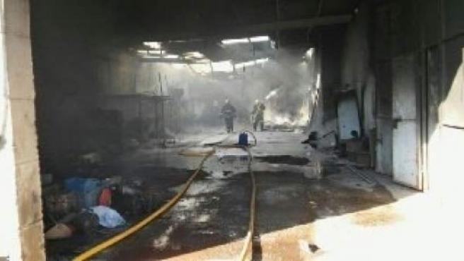 Incendio en una nave agrícola en Casa Pastores