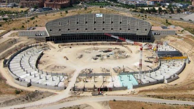 Obras en La Peineta, nuevo estadio del Atlético Madrid