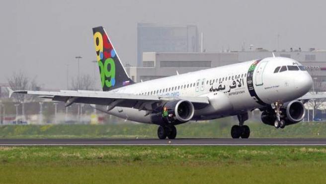 Imagen del avión secuestrado este domingo en Malta.