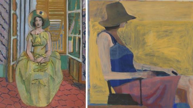 Izquierda, un Matisse. Derecha, un Diebenkorn