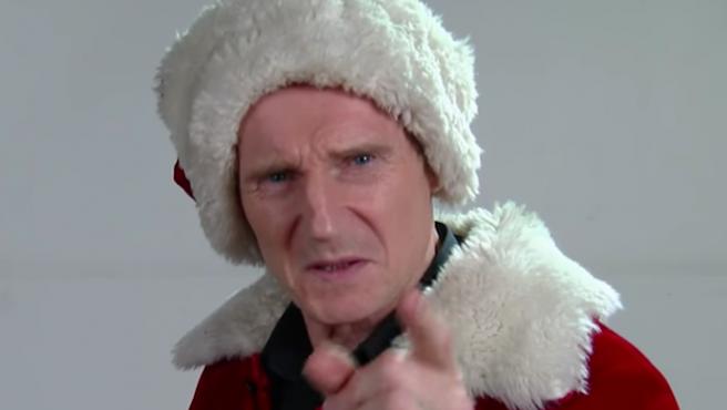 Vídeo del día: Si te portas mal, Liam Neeson es tu Papá Noel