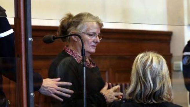 Imagen de Jacqueline Sauvage, la mujer de 68 años que en 2012 mató a su marido tras ser maltratada durante 47 años.