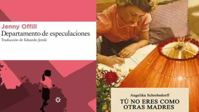 Portadas de 'El carbonero' de Carlos Soto Femenía, 'Departamento de especulaciones' de Jenny Offill y 'Tú no eres como otras madres' de Angelika Schrobsdorff.