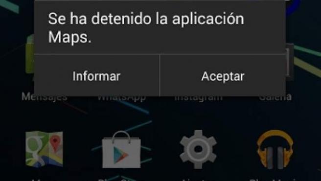 Cómo resolver el problema 'la aplicación se ha detenido'