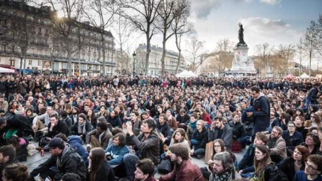 Manifestación en Francia contra la conocida como ley 'El Khomri'.