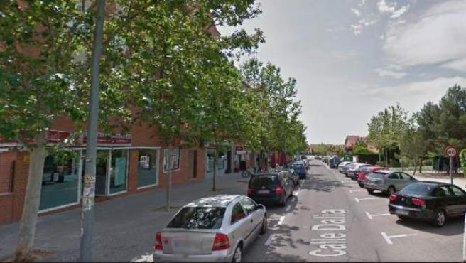 Calle de la Dalia, en Rivas Vaciamadrid, donde ha sido presuntamente asesinada la primera víctima de violencia machista de 2017.