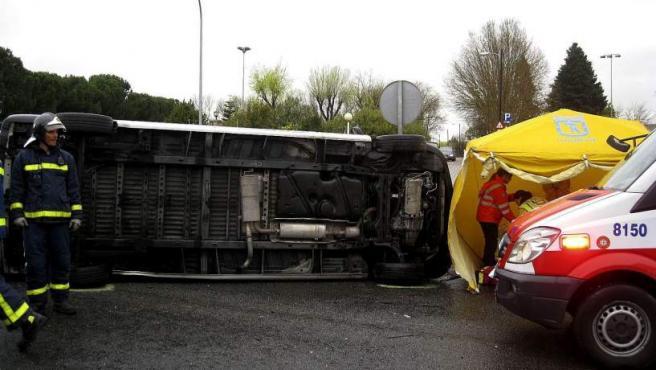 Uno de los accidentes de tráfico ocurridos durante la Semana Santa.
