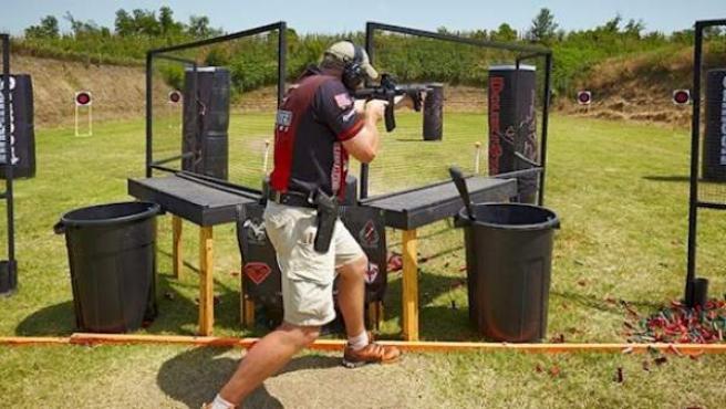 Entrenamiento en EEUU, imagen de la National Rifle Association.