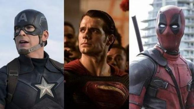 Capitán América, Superman y Deadpool.