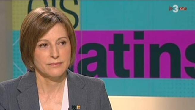 Carme Forcadell en TV3