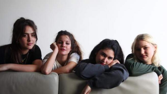 Ana, Carlotta, Ade y Amber (izda a dcha), componentes de Hinds.