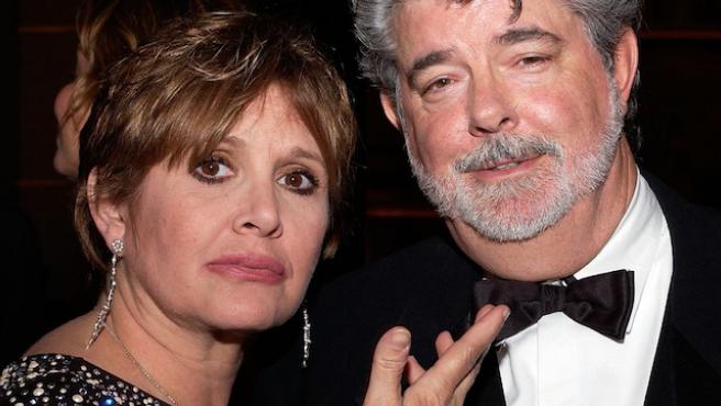 Vídeo del día: Carrie Fisher pone verde a George Lucas en 2005