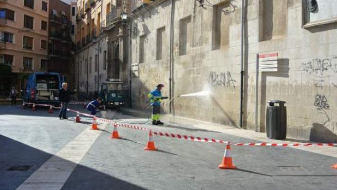 Limpieza grafitis