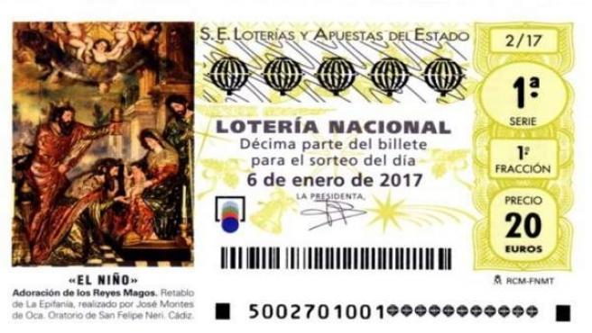 Décimo del sorteo de lotería del Niño 2017