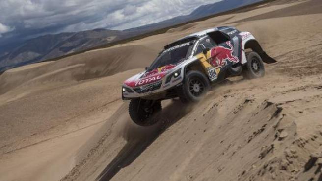 Carlos Sainz en el Rally Dakar de 2017.